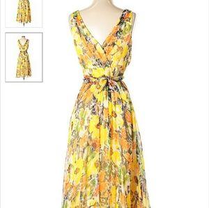 Lafayette 148 NY silk maxi dress s 12